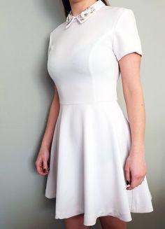 Kup mój przedmiot na #vintedpl http://www.vinted.pl/damska-odziez/krotkie-sukienki/16857796-nowa-biala-sukienka-mohito-kolnierzyk-elegancka