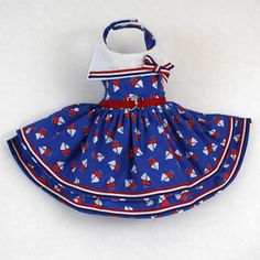 Nautical Sailboat Sailor Dog Dresses by LittleDogFashion on Etsy, $48.00