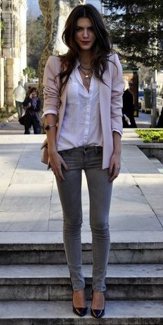 Cute Light colored lilac blazer !