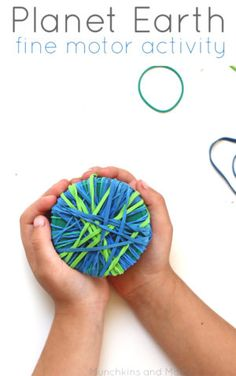 Great Planet Earth fine motor activity for preschoolers! So easy to put together for a preschool center!
