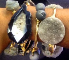 Gorgeous stones in this stack!! Bourbon and Boweties. #doyoubangle #bourbonandboweties