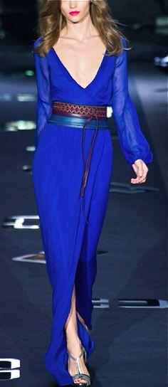 Diane Von Furstenberg electric blue dress. http://www.missKrizia.com
