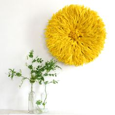 This Sunshine Yellow Juju Hat is the perfect statement piece.