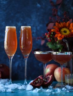 Cider Mimosas // fall cocktail ideas