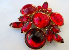 this is an all lucite brooch that mimics crystal perfectly.