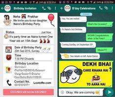 Handmade Birthday Invitation Card To Send On Whatsapp Buick Cards Invitations