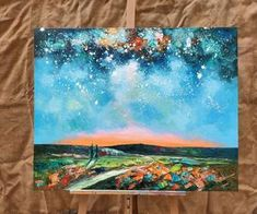 Abstract Canvas Oil Painting, Starry Night Sky Landscape Painting, Custom Large Canvas Painting-artworkcanvas Original Oil Painting, Hand Painting Art, Sky Painting, Painting, Original Landscape Painting, Sky Landscape Painting, Night Sky Painting, Large Canvas Painting, Abstract Art Landscape
