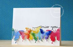 Miss You #card by Laura Bassen for #PaperSmooches