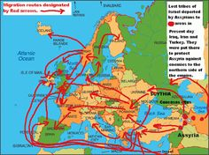 Lost Tribe of Israel Ireland | The migration routes of Israel.