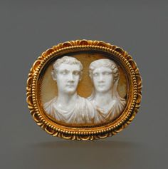 Sardonyx cameo depicting Caligula and Antonia, dated circa 37-41 AD. Beautifully carved, it has a very rare recorded provenance, as a cast of this cameo had been published in a catalogue of 1831, in an attempt by the German archaeologist Eduard Gerhard to create an encyclopaedic record of Roman gems. Thanks to its provenance, its delicate and detailed carving, and level of preservation, the lot achieved a staggering US$ 425,000.