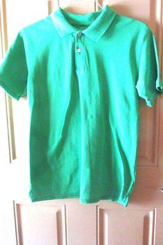 Faded Glory Green Polo Shirt XXl 18 #FadedGlory #PoloRugby