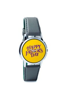 Wrist Watches India | Happy Father's Day Purple Typography Wrist Watch Online India.