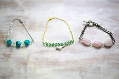 DIY Delicate Beaded Bracelets   http://hellonatural.co/diy-beaded-bracelets/