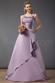 Graceful A-Line Floor-length Square Bridesmaid Dress 10521527 - 2013 Bridesmaid Dresses - Dresswe.Com