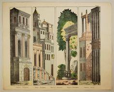 No. 24. Vesuve. (Coulisses). Vesuv (Coulissen). Vesuvius (sidescene). Vesuvio (Corredera). Vesuvio (corsia).