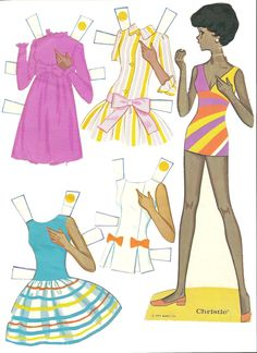 Mostly Paper Dolls: WORLD OF BARBIE Paper Dolls, 1971
