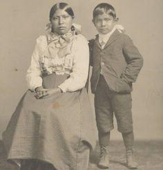 Hattie George, Bill Axtill - Nez Perce - circa 1890