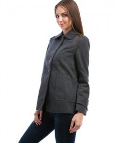 Coats  MOD Luv Women's Classic Wool Button Up Coat Grey S(65251) Big SALE Wool Coats, Button Up, Leather Jacket, Big, Grey, Classic, Jackets, Women, Fashion