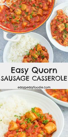 Warming and comforting, my Easy Quorn Sausage Casserole is perfect for chilly evenings. Serve with mashed potatoes, baked potatoes or rice for the edible equivalent of a big warm hug! Quorn Recipes, Sausage Recipes, Veggie Recipes, Cooking Recipes, Healthy Recipes, Vegetarian Recipes Quorn, Quorn Foods, Quorn Meals, Veggie Sausage