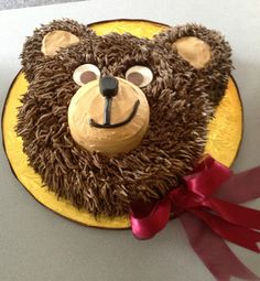 This is the One for Roseanna!  Smirky 3D Teddy Bear Cake