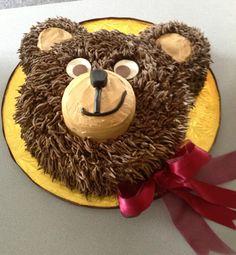 Smirky 3D Teddy Bear Cake