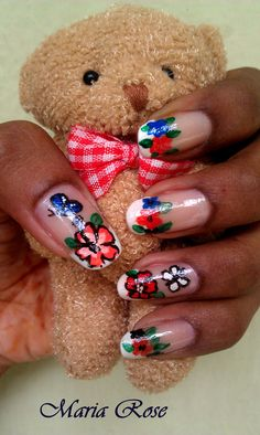 Floral Butterfly Nail art for beginners