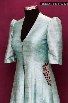 Best 12 Black Chanderi Kalidar Kurta with Gold Zari Stitching Detail – SkillOfKing. Salwar Designs, Blouse Designs, Indian Dresses, Indian Outfits, Choli Dress, Lehenga Blouse, Gown Dress, Kurti Embroidery Design, Embroidery Art