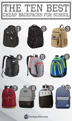 Best affordable school backpacks for high school and college. Discover the list: https://backpackies.com/blog/best-cheap-backpacks-for-school