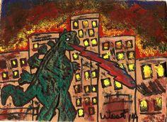 Gojira (Godzilla) attacks city by terrymwest on deviantART