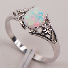 White Fireplace Opal Australia 925 Sterling Silver Lady Jewellery Ring Measurement 6 7 eight 9 10 11 F579 - Silver Jewellery 925 - SHOP NOW