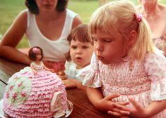 kim's 4th birthday - 1981 barbie doll cake