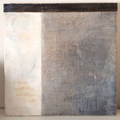 Encaustic diptych right side panel by Helen Lewis - Illuminating Words