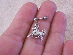 Horse Cartilage 16ga Tragus Earring Body Jewelry