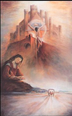 Santa Teresa de Jesus. Catholic Art, Roman Catholic, Religious Icons, Religious Art, St Theresa Of Avila, St John Bosco, Jesus Mother, Christian Paintings, St Therese