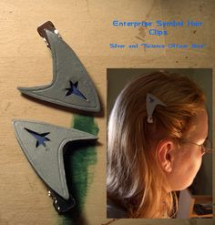 Star Trek Hair Clips by Haunted-Mind.deviantart.com on @DeviantArt