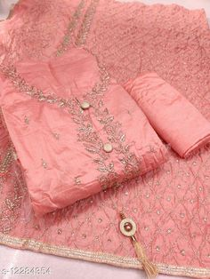 Checkout this latest Suits Product Name: *new trend women suit* Top Fabric: Silk Blend + Top Length: 2.5 Meters Bottom Fabric: Shantoon + Bottom Length: 2.5 Meters Dupatta Fabric: Modal Blend + Dupatta Length: 2.5 Meters Lining Fabric: No Lining Type: Un Stitched Pattern: Embroidered Multipack: Single Country of Origin: India Easy Returns Available In Case Of Any Issue   Catalog Rating: ★4.1 (652)  Catalog Name: Aagyeyi Superior Salwar Suits & Dress Materials CatalogID_2358038 C74-SC1002 Code: 966-12284354-2781