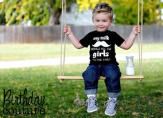 my milk mustache brings all the girls to the by birthdaycouture, $25.00