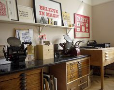 my letterpress workshops studio