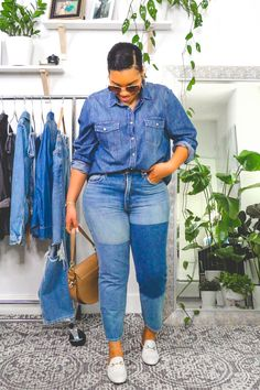 Chubby Fashion, Black Girl Fashion, Denim Fashion, Fashion Outfits, Classy Outfits, Casual Outfits, Cute Outfits, Jean Outfits, Look Plus Size