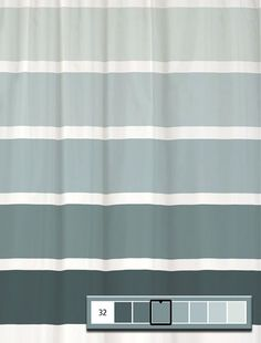 Shower Curtain Rugby Stripe YOU CHOOSE by SwirledPeasDesigns