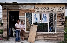 Exterior of a township salon in Nompumulelo in the Eastern Cape of South Africa. Adventure Tours, African Culture, Cape Town, South Africa, Tourism, Exterior, City, Photography, Travel
