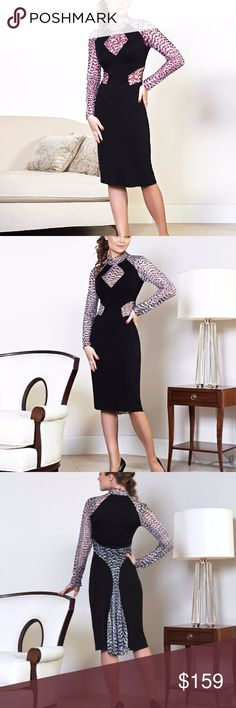 """SEXY PARTY DRESS MADE IN EUROPE S This gorgeous dress from EUROPEAN DESIGNER Collection made of high quality Italian viscose blend stretch fabric in beautiful cut .DECORATED WITH CONTRAST STRETCH LACE FABRIC.  EXCEPTIONAL FIT FOR THE FEMALE FIGURE! BEAUTIFUL COCKTAIL WEAR!CAN BE USED JUST FOR ANY OCCASION AND ANYWHERE! LENGTH:39""""  MADE IN LATVIA,EUROPE. TOP EUROPE Dresses Prom"""