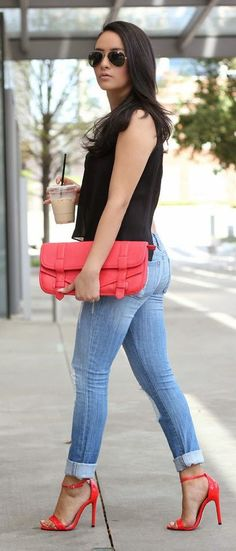 Red Accent Streetstyle