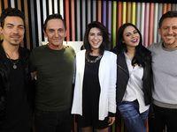 Jurados do X Factor Brasil visitam o Pânico; veja fotos