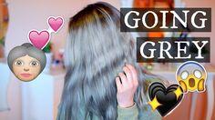 How to get SILVER HAIR |my HAIRSTORY  grey hair, granny, hair, silver hair