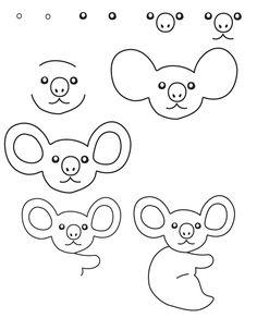 koala draw drawing animals step drawings dessin zoo animal simple learn jungle google fun australia easy cartoon visit instructions teken