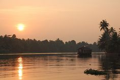 Houseboat at Sunset, Alleppey, 2010