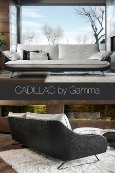 Cadillac sofa by Gamma International offers modern design combined with comfort and refinement. Cadillac is carefully handmade in Italy to make a statement in your living room décor.