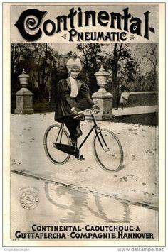 Original-Werbung/ Anzeige 1897 - CONTINENTAL PNEUMATIC RADREIFEN - ca. 160 x 260 mm