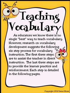 Teaching Vocabulary Step By Step!